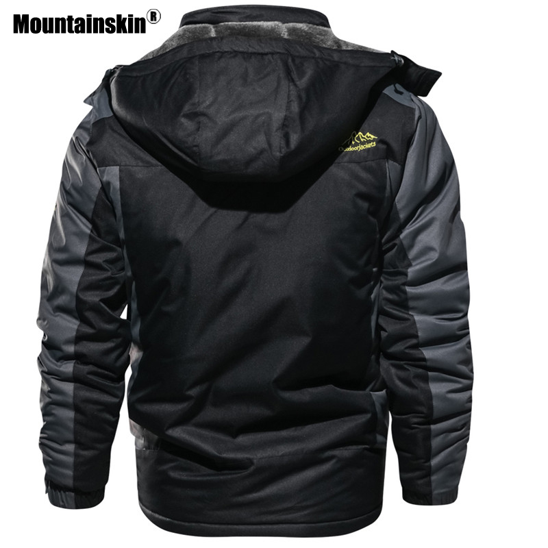 Image 5 - Mountainskin New Winter Men's Parkas Thick Fleece Warm Coat Men Jackets Hooded Coats Mens Brand Clothing Plus Size 7XL 8XL SA603-in Jackets from Men's Clothing