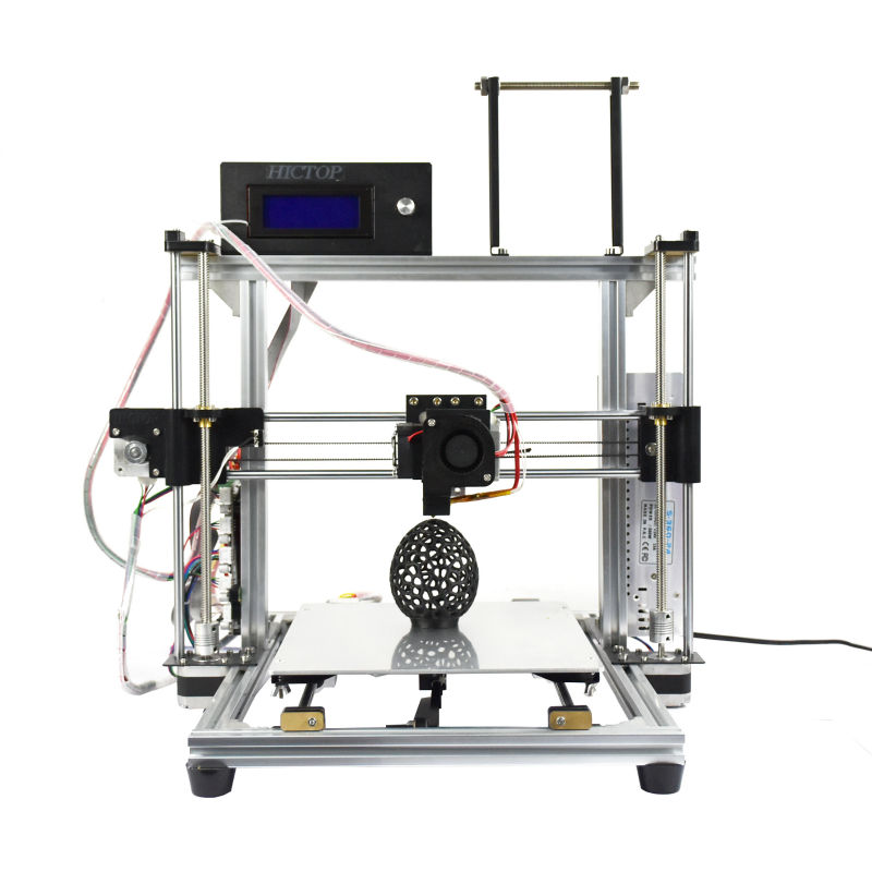 HICTOP Desktop Aluminum 3D Printer Reprap Prusa I3 with the Function of Filament Control, Printing Speed 30-70mm/s