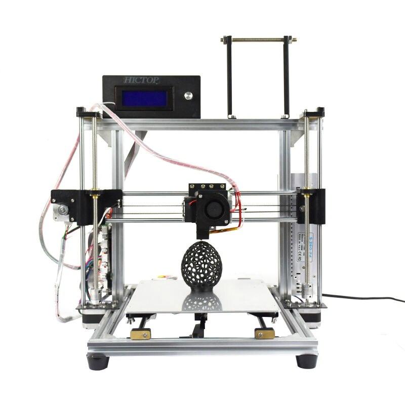 Hictop de aluminio de escritorio 3d impresora reprap prusa i3 con la función de