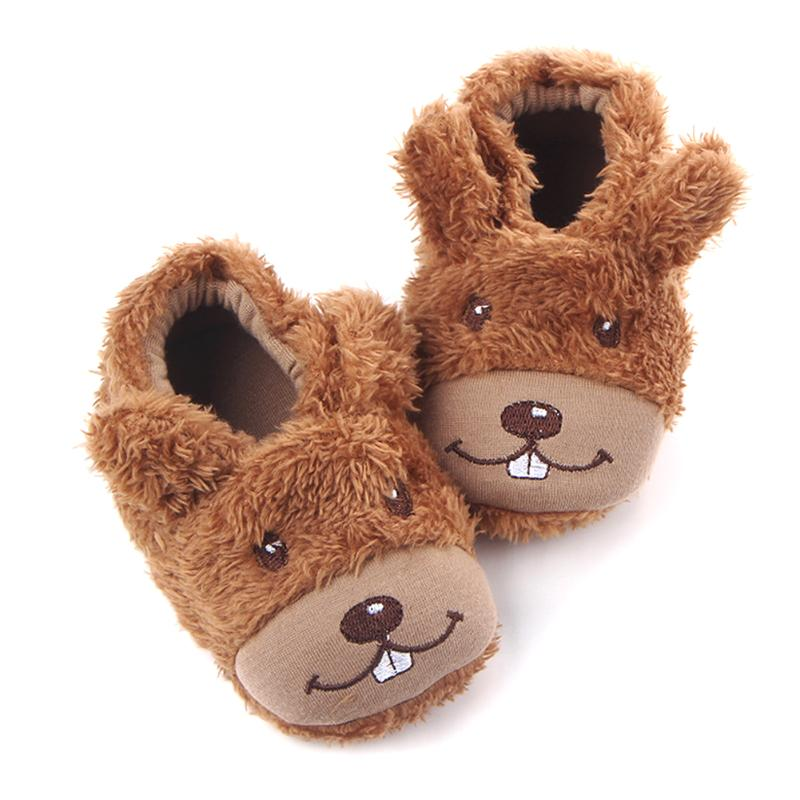 Toddler Kids Winter Shoes Infant Coral Velvet Warm First Walkers Newborn Cute Cartoon Soft Anti-slip Baby Shoes