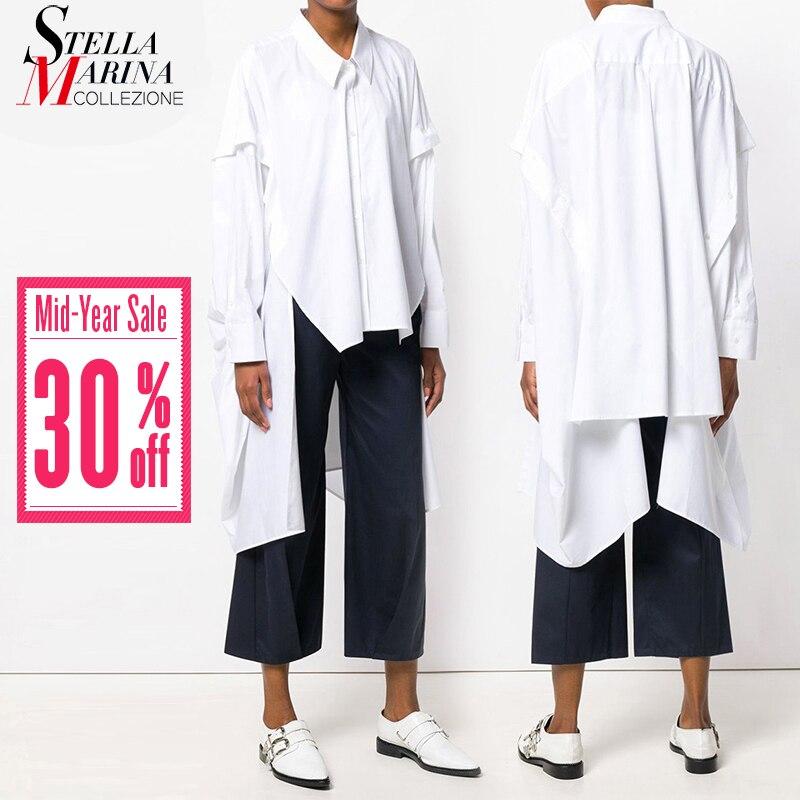 New 2019 Women Summer Tops Solid Black White   Blouse     Shirt   Long Sleeve Plus Size Ladies Feminine   Shirt   chemise femme   blouses   3665