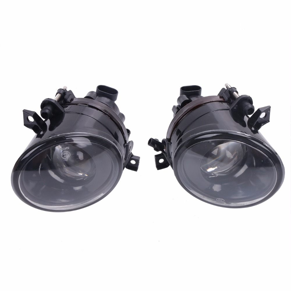 Car Front Right & Left H11 Bumper  Clear Glass Convex Lens Fog Lights Fog Driving Lamp For VW Golf Jetta GTI MK5 C/5 runmade 1pair fog lights for 2006 2010 vw passat b6 3c clear lens front fog lamp driving lamp left