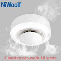 NiWoolf 433MHz Wireless Smoke Detectors Low Power Consumption battery works over 10 year, All for your home burglar alarm system
