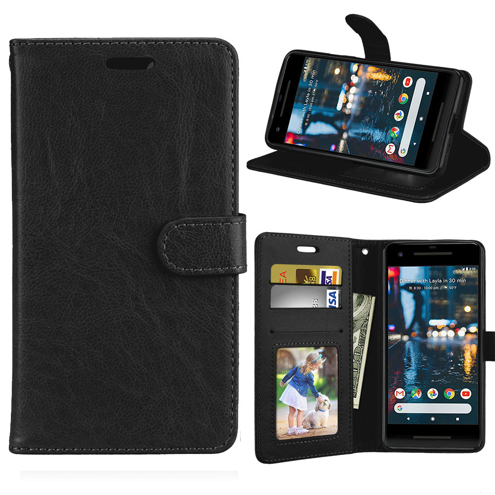 Card Wallet Flip PU Leather 5.0For Google Pixel 2 Case For Google Pixel 2 Cell Phone Back Cover Case