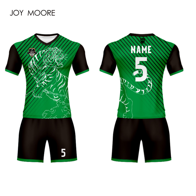 44f0b9a8337 joy moore new coming soccer jersey set green color football jersey ...