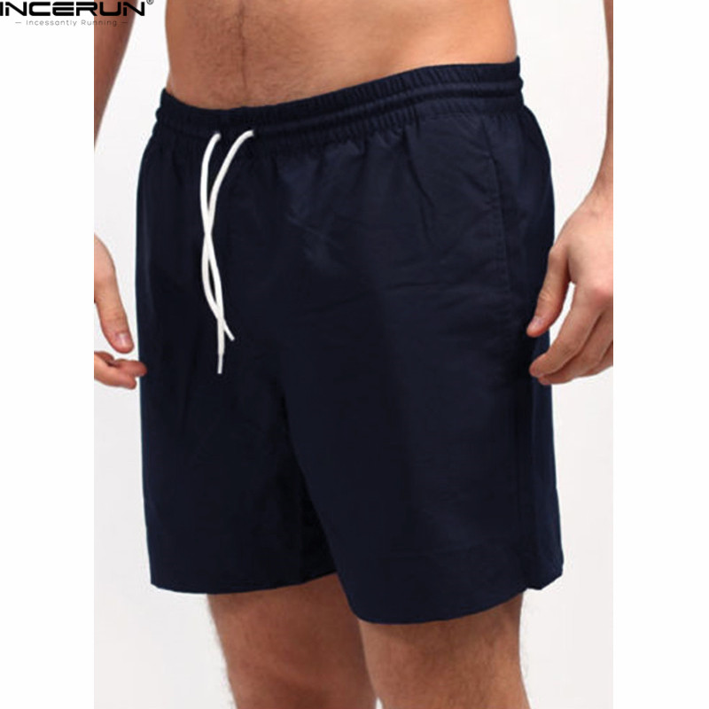 High Quality Men Casual Shorts Male Elastic Waist Drawsting Slim Fit Bodybuilding Workou ...