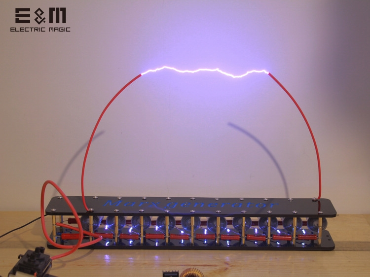 Panneau de bricolage 10 grades Marx impulsion tension impulsion générateur haute tension générateur Marx bobine Tesla
