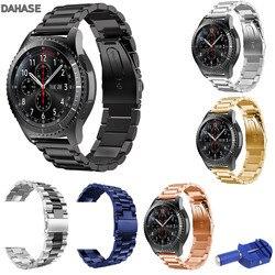 22mm Edelstahl Uhr Band für Samsung Getriebe S3 Frontier S3 Klassische Strap für Galaxy Uhr 46mm Armband mit Einstellen Werkzeug