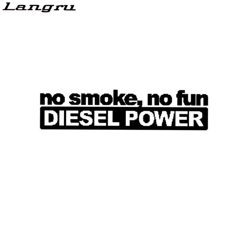 Langru Fashion No Smoke No Fun Diesel Power Vinyl Decoration Car Sticker Decals Graphical Jdm(China)