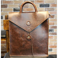 Famous Brand Fashion Business Men Envelope Bag Casual Men's   Backpack Hot Selling Style Men Crazy Horse Leather Office Bag B260