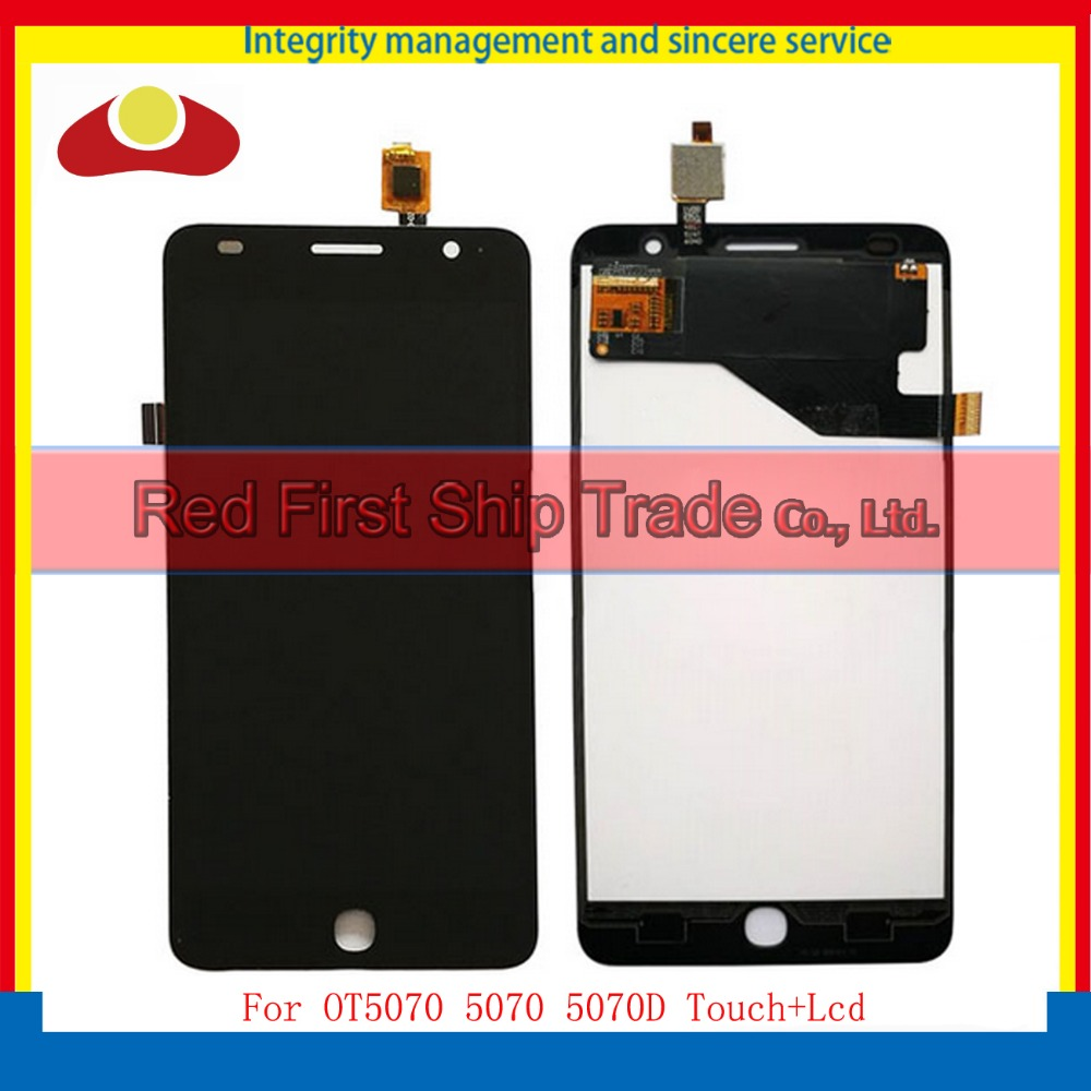 5.0 For Alcatel OneTouch Pop Star 4G OT5070 5070 5070D Full Lcd Display With Touch Screen Digitizer Assembly Complete Black alcatel ot 4035d pop d3 dual black fashion blue