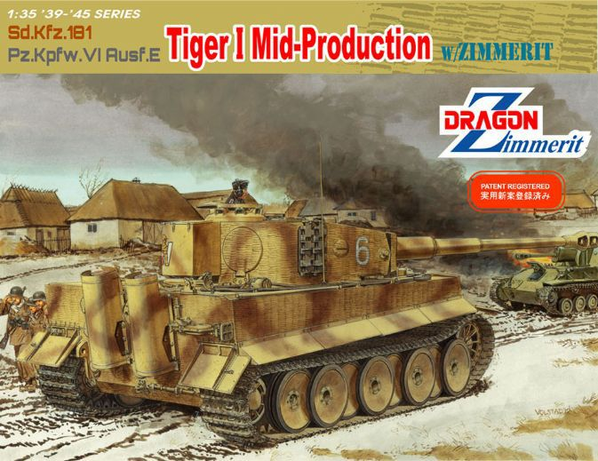 Dragon model 6700 1/35 scale Sd.Kfz 181 Pz.Kpfw.VI Ausf.E Tiger I Mid-Production w/Zimmerit realts dragon 6746 1 35 flak 43 flakpanzer iv ostwind w zimmerit