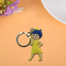 1PCS Inside Out Cute Cartoon Keychain Key Ring Gift For Women Girls Bag Pendant PVC Figure Charms Key Chains Jewelry porte clef(China)