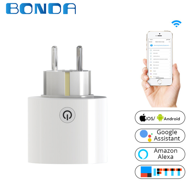 Wifi Smart Socket Power Plug Universal EU Standard Outlet Work with Amazon Alexa and Google Home for Smart Home все цены