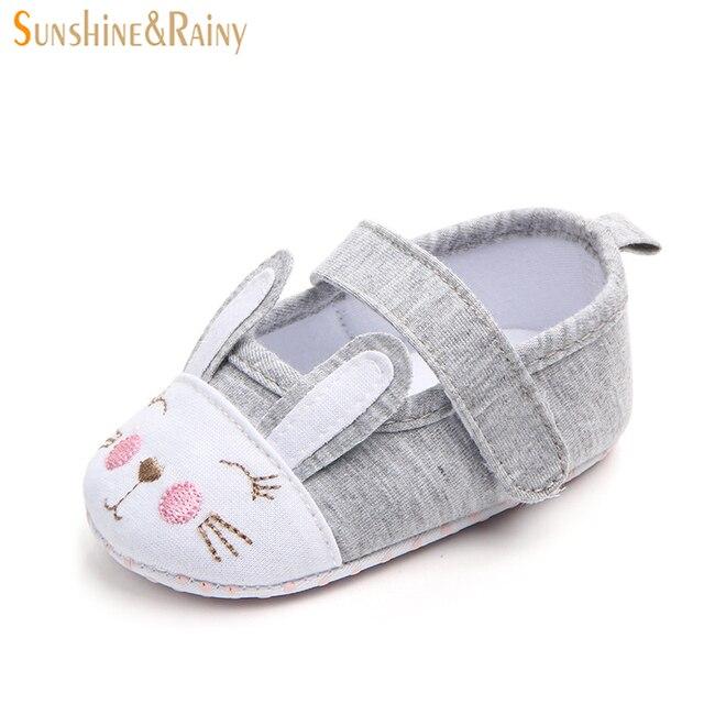 aa9c95afe Sunshine   rainy Linda Bordado Zapatos para bebé Niñas recién nacido  calzado ortopédico niño algodón Telas