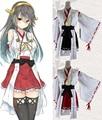 2 colores anime kantai colección kongou cosplay del kimono disfraces kancolle haruna y ahruna chicas flota acorazado de combate dress