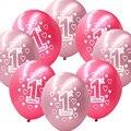 10 unids/lote 12 pulgadas primera impresión de globos de látex de cumpleaños para niños de Cumpleaños Decoración fuentes Del Partido de ducha de Bebé de la muchacha primero cumpleaños