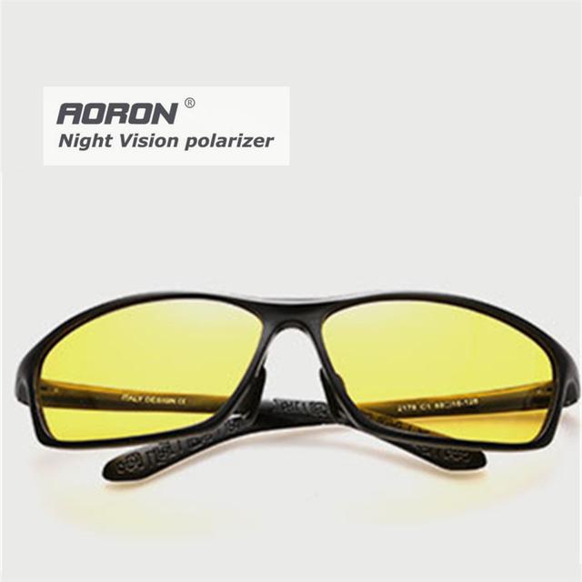 Óculos de sol óculos de visão noturna homens liga de carro de condução óculos Anti reflexo óculos de armação de óculos