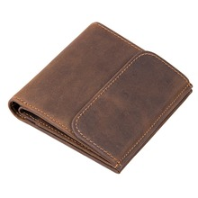 J.M.D  First Layer Crazy Horse Leather Simple Style Photo Credit Card Holder Casual Wallets Money Wallet R-8171R