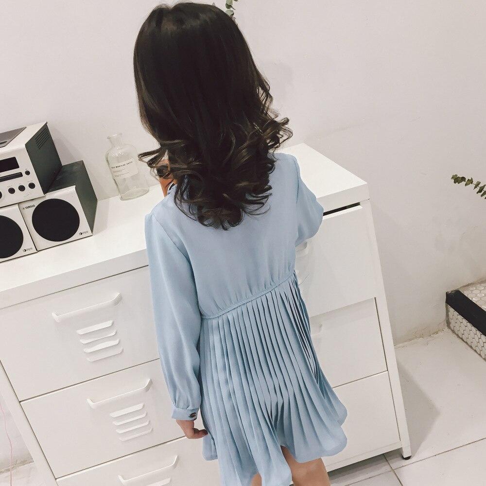 Meisjes taille lange mouwen chiffon hoge kwaliteit schattige borst - Kinderkleding - Foto 3