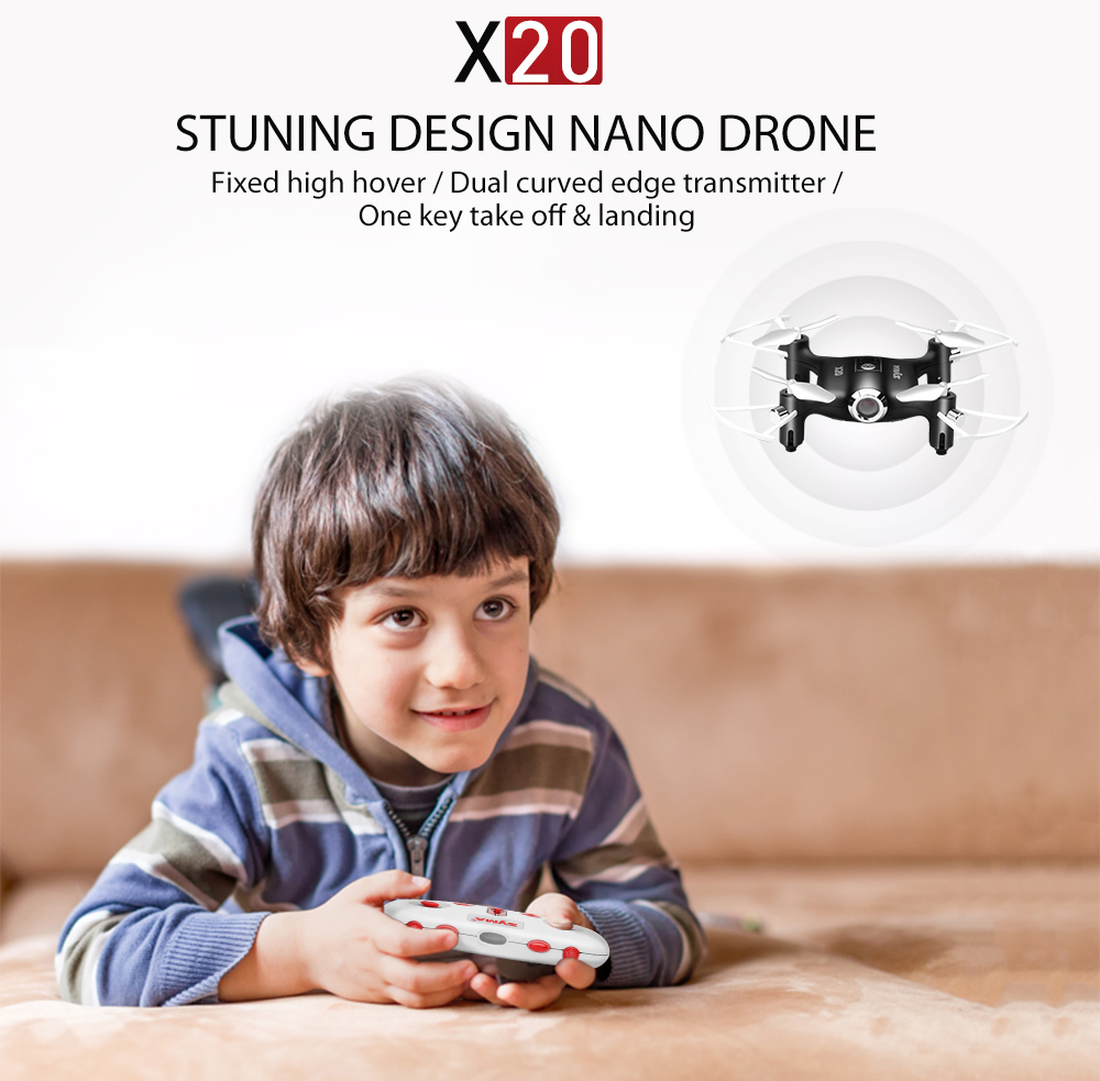 2017 SYMA X20 Mini Dron RC Quadcopter Drone 2 4G 4CH 6 aixs Gyro RTF with