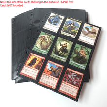 100 Pages, 1800 Pockets Top Loading Black Color Series Card Page Protector for Standard Size Board Game Cards 9 pocket side 18 pockets page side loading black color series card page protector for standard size board game cards