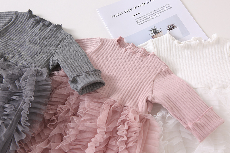 HTB1A8rtXdfvK1RjSspoq6zfNpXaB Girls Knitted Dress 2019 autumn winter Clothes Lattice Kids Toddler baby dress for girl princess Cotton warm Christmas Dresses
