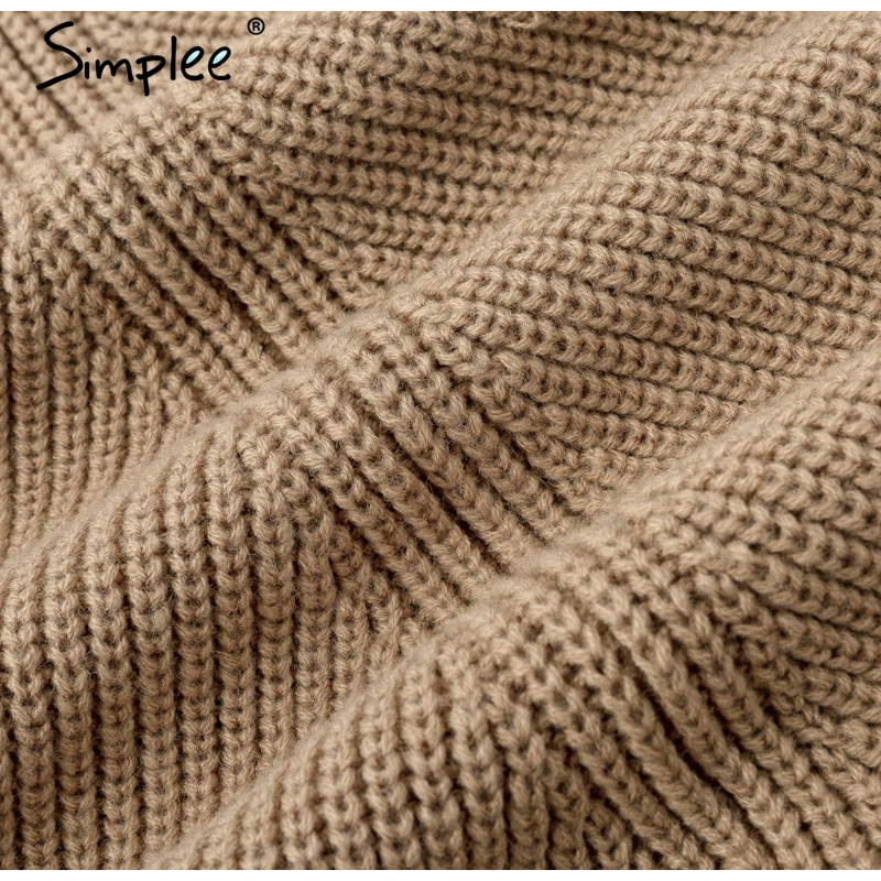 Women Knitted turtleneck cloak sweater 49