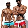 Top Quality Swimsuit Troncos Marca de Natação dos homens Swimwear Sexy Homens Nadar Calções de Praia Mar Praia Cuecas Boxer Frete Grátis