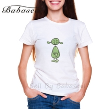 Babaseal Fantasy Character Cartoon Illustration Summer Cute Women Tshirt Pineapple Bts Shirt Flower Brand Women T-shirt