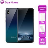 Cubot J5 смартфон с 5,5-дюймовым дисплеем, четырёхъядерным процессором MT6580, ОЗУ 2 Гб, ПЗУ 16 ГБ, 2800 мАч, 3G, Android 9,0, 2019