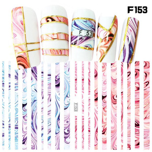 Image 1 - 1 sheet New Fashion 3D Nail Stickers colorful  Stripe Lines Nails Sticker  Striping Tape  Decorations Manicure Z067