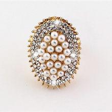 Zn 2020 anéis de pérolas para mulheres, elegante, imitação, para festa de casamento, joia, presente, tamanho ajustável, feminino, anel de noivado