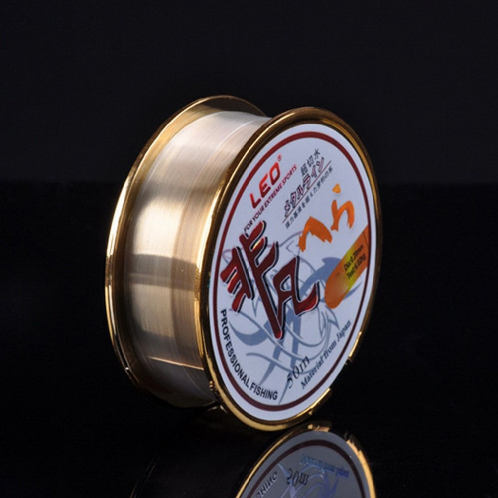 NEW LEO High Carbon Fishing Line 50m Boxed Fluorocarbon Fishing Line High Quality Fishing Cord Hot Sale Dropshipping