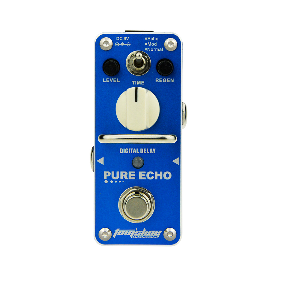 ROMA Tom'sline APE-3 Pure Echo Digital Delay Electric Guitar Effect Pedal Mini Single Effect with True Bypass aroma ape 3 pure for echo digital delay electric guitar effect pedal mini single effect with true bypass