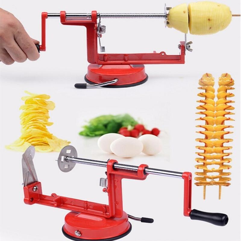 High quality stainless steel manual potato machine Tornado potato slicer strange new home kitchen tool