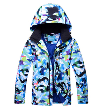HOTIAN Winter Ski Jacket Man Snowboarding Tops Outdoor Super Waterproof Windproof Breathable Coat Male