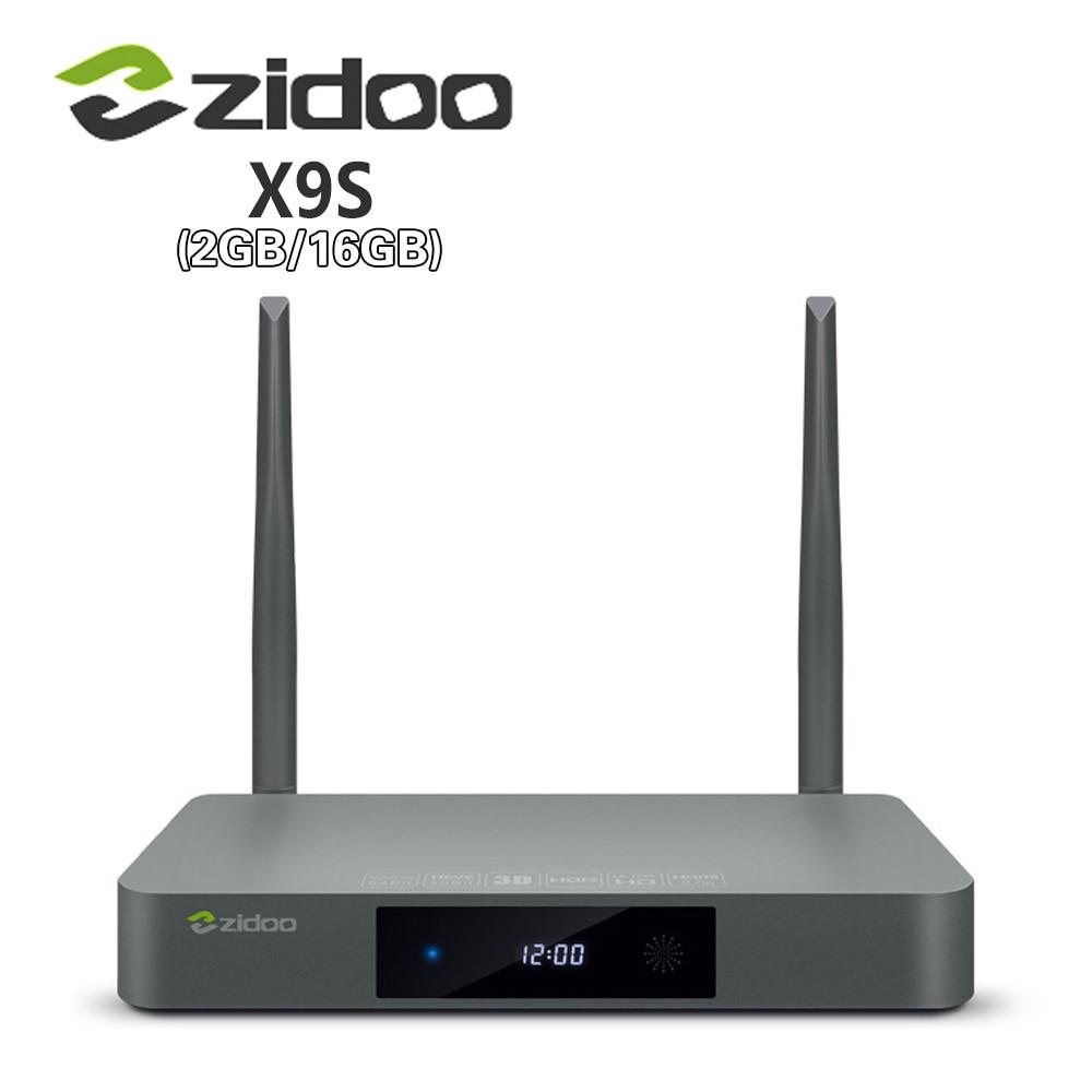 цена на Genuine Zidoo X9S Smart TV BOX Android 6.0 +OpenWRT(NAS) Realtek RTD1295 2G/16G 802.11ac WIFI Bluetooth 1000M LAN Media Player