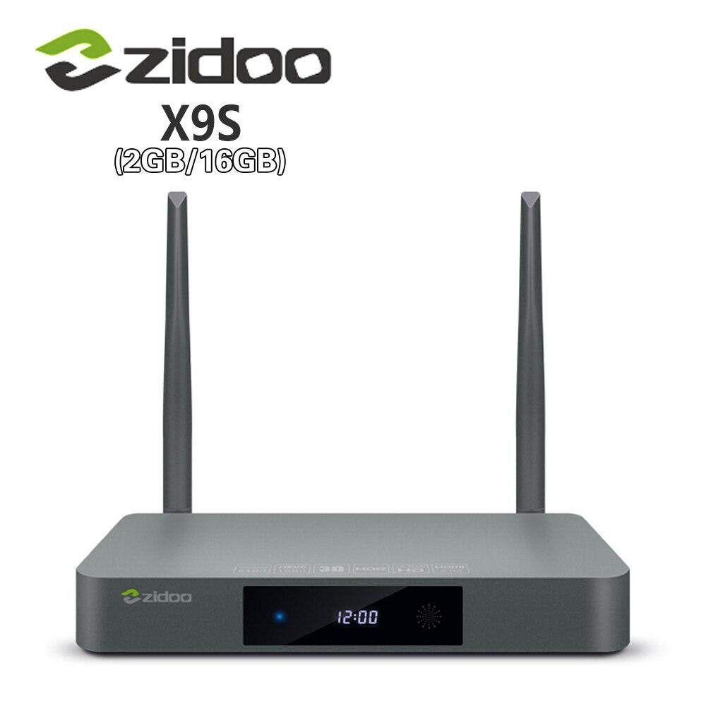 Véritable Zidoo X9S boîtier de smart tv Android 6.0 + OpenWRT (NAS) realtek RTD1295 2G/16G 802.11ac WIFI Bluetooth 1000 M LAN lecteur multimédia