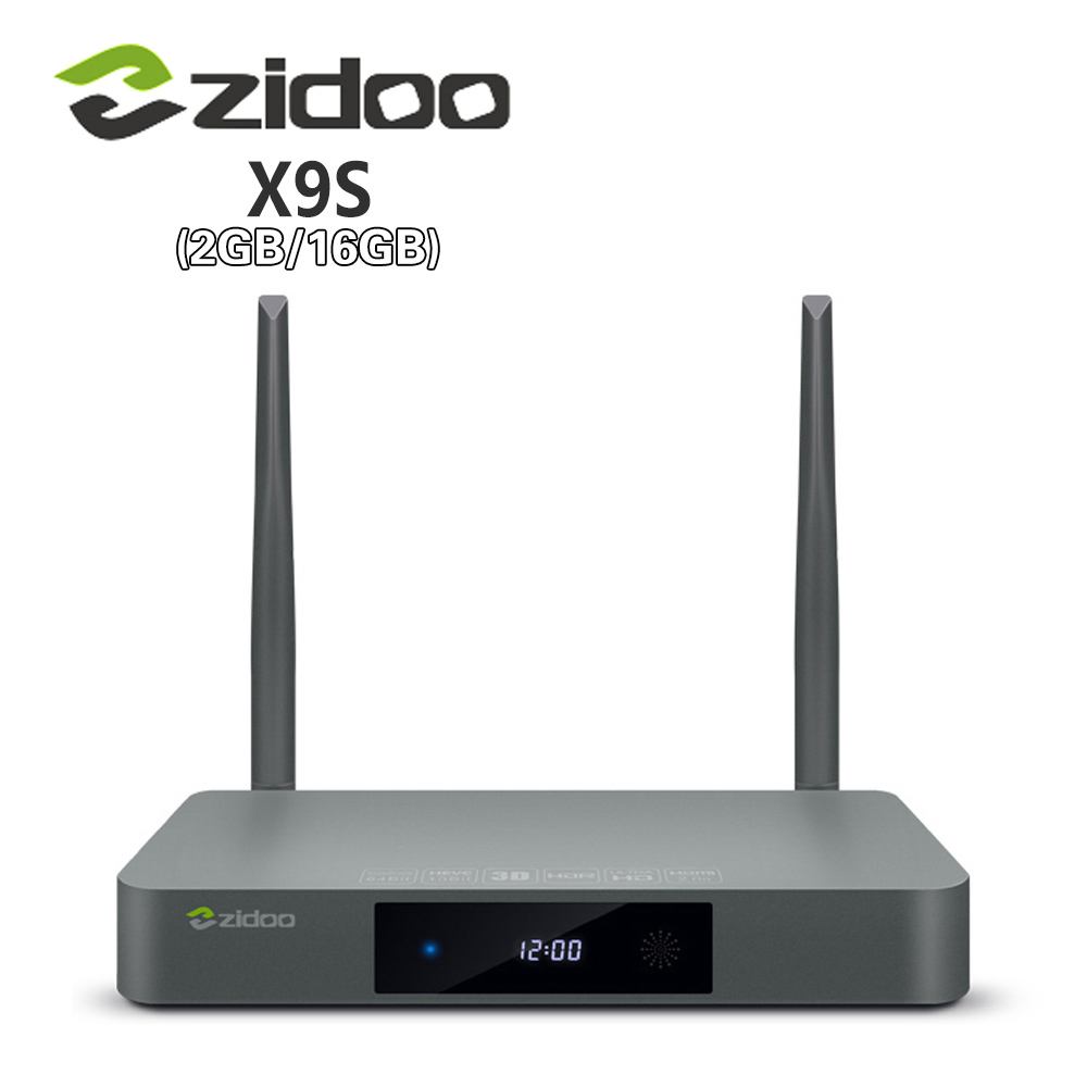 Véritable Zidoo X9S Smart TV BOX Android 6.0 + OpenWRT (NAS) realtek RTD1295 2G/16G 802.11ac WIFI Bluetooth 1000 M LAN Media Player