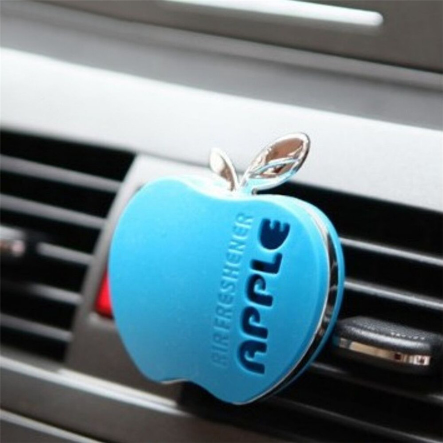 Dropship Hot Selling 1PC Parfum Flavor Auto Car Apple Shape Comfortable Gift Locket Air Freshener Decor Air Freshener Clip+Balm