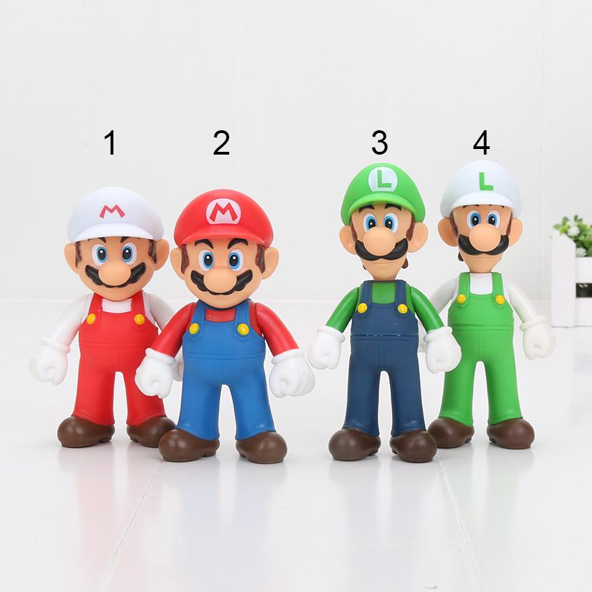 ba4d6089e9 Super Mario Figure Mario and Luigi PVC and Luigi Donkey Kong Action Figures  Toy Gift 12cm