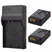 2x1500mAh LP E17 Battery Pack Charger For Canon EOS 750D 760D M3 M5 T6i T6s+USB charger Free shipping wholesale