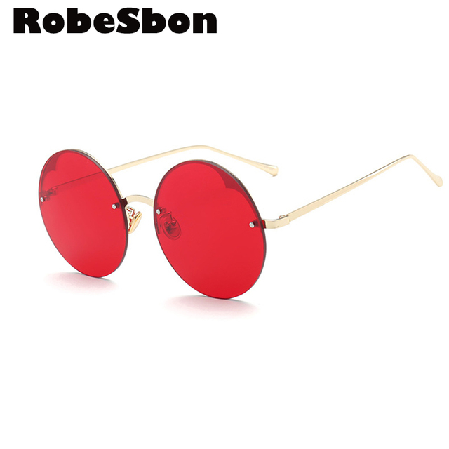 183380fa765 Fashion Brand Quality Sunglasses Women Round Retro Rimless glasses for Men  Classic Glasses oculos de sol feminino d style or