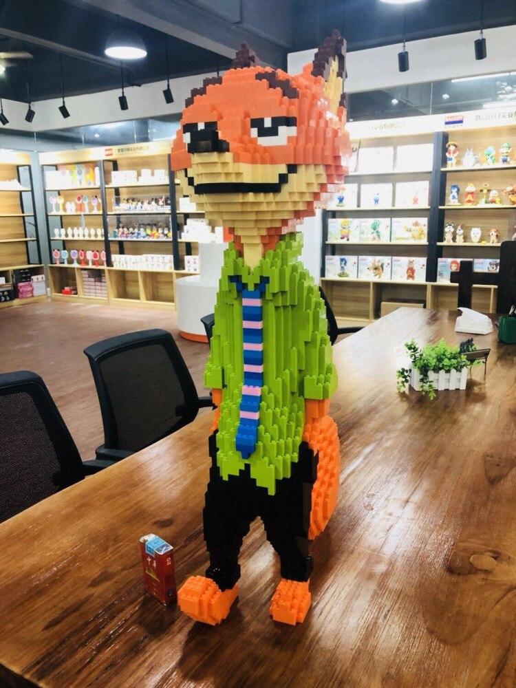 Ainimal jouet renard chat blocs Bellady diamant Granule enfants créatif briques à monter soi-même jouet blocs de construction 26001-26003 cadeau de noël