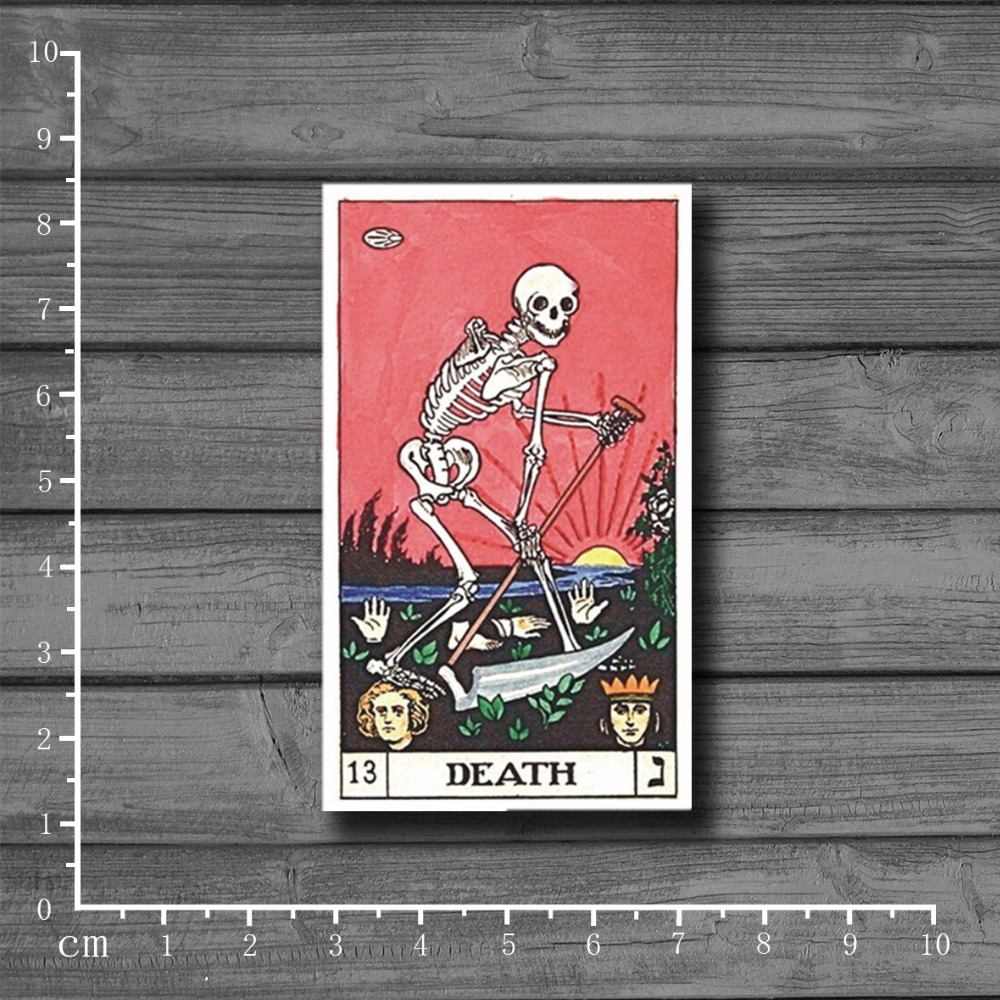 Tarot. DEATH Waterproof Personalized On Notebook Laptop Skin Stickers Car Styling Decal For Kid Toy Suitcase Stickers[Single]