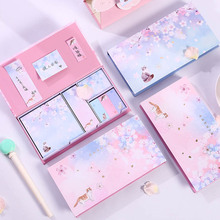 Premium Sakura Sticky Notes Boxed Starry Sky Sakura Cat Memo Pads Sakura Posted It For Girls
