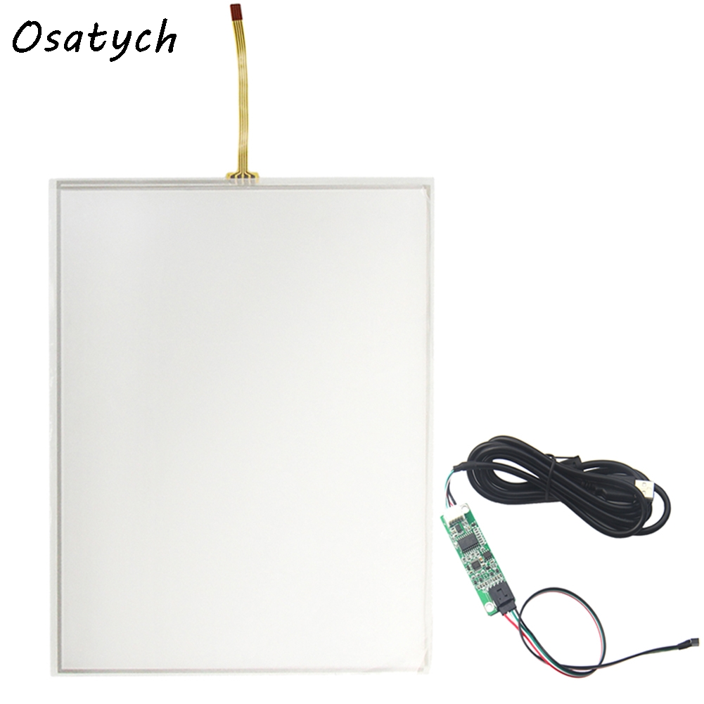 10.4 Inch 4 wire Touch Screen for 225*173 Resistive USB Touch Panel Overlay Kit Free Shipping new 10 1 inch 4 wire resistive touch screen panel for 10inch b101aw03 235 143mm screen touch panel glass free shipping