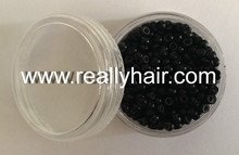 500pcs Black silicone micro nano bead with silicone line for Nano Hair Extensions tool kit 6