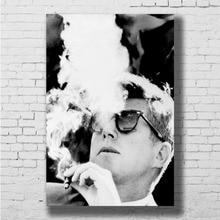fc99e24a0cd0 t shirts funny Store. Add to Wish List. JFK John F Kennedy Custom Smoking  American President Wall Sticker Home Decoration Silk Art Poster(